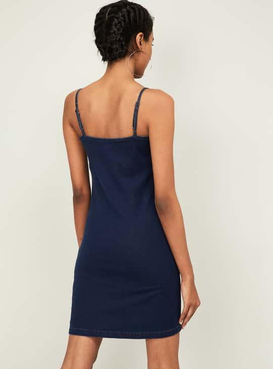 GINGER Women Solid Denim Dress
