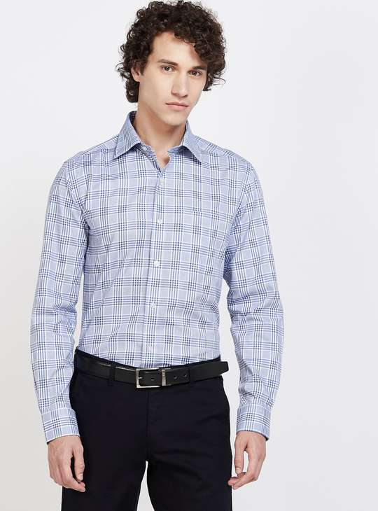 LOUIS PHILIPPE Checked Full Sleeves Regular Fit Formal Shirt