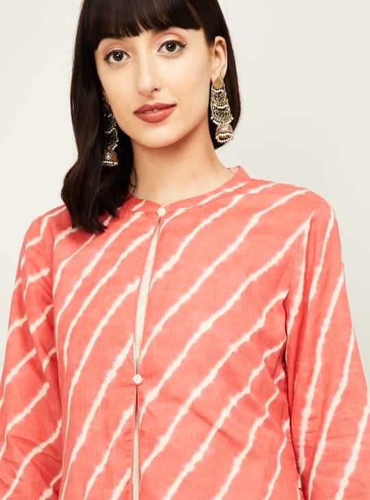 MELANGE Women Striped Three-quarter Sleeves Kurta