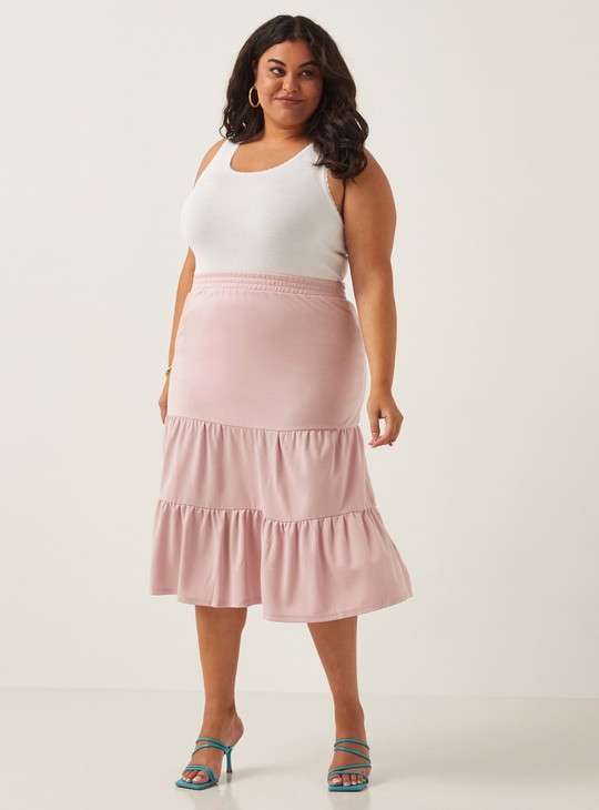 Solid Vest with Scoop Neck and Lace Detail