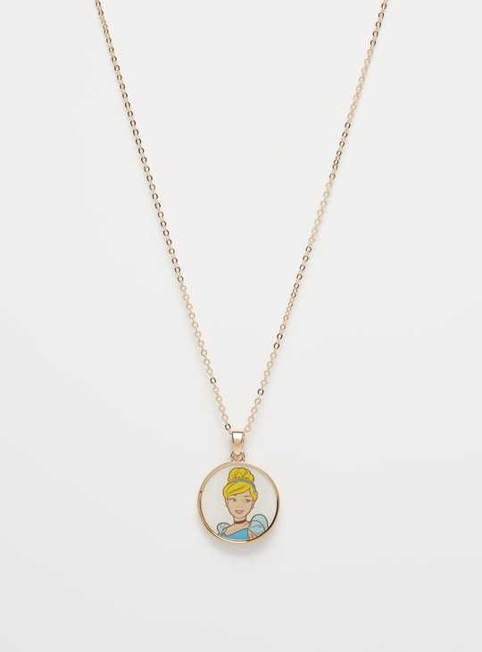 Cinderella  Print Pendant Necklace with Lobster Clasp