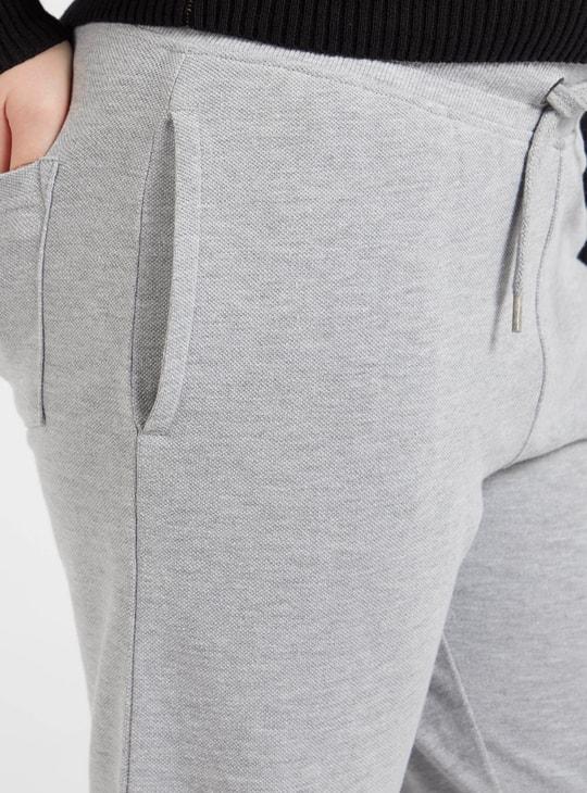 Full Length Textured Jog Pants with Pocket Detail