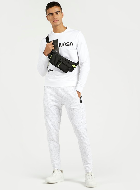 Textured Cuffed Joggers with Zip Pockets and Drawstring Waist