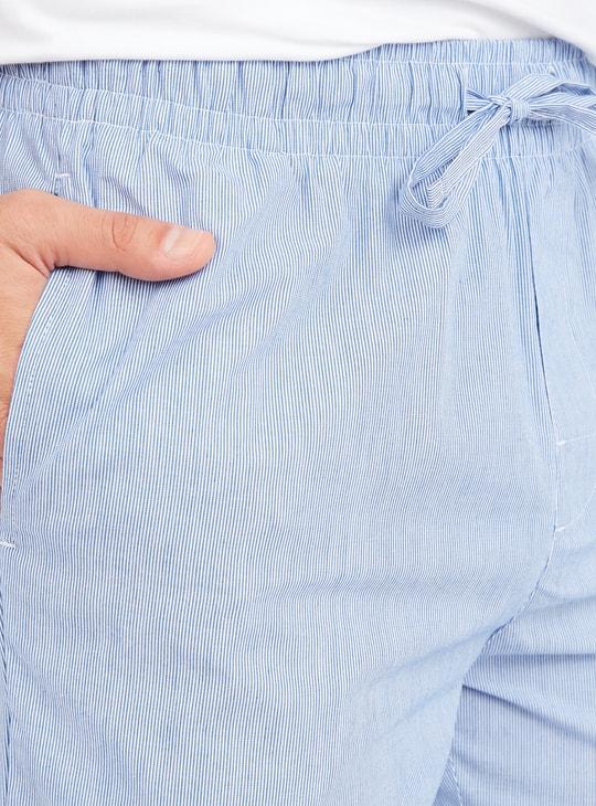Pinstriped Pyjamas with Drawstring Closure
