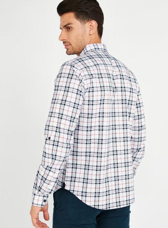 قميص أكسفورد كاروهات بأكمام طويلة