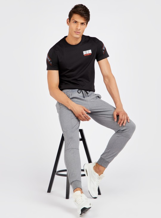 Slim Fit Printed T-shirt with Short Sleeves