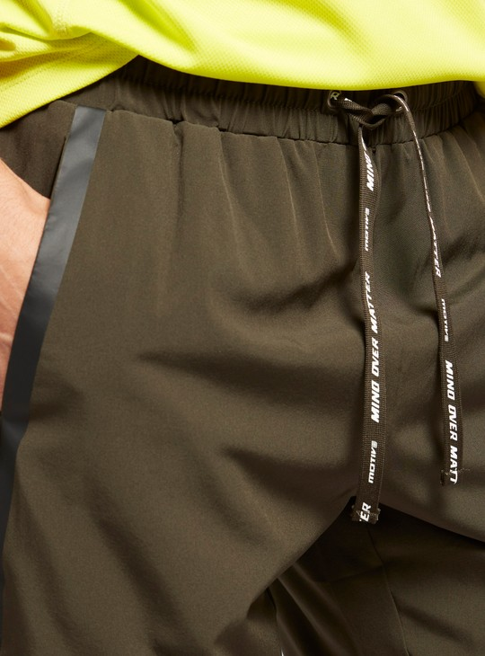 Solid Shorts with Elasticated Drawstring Waist and Pockets