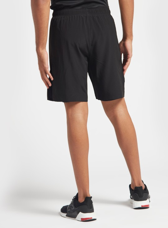 Solid Hybrid Performance Shorts with Drawstring Closure