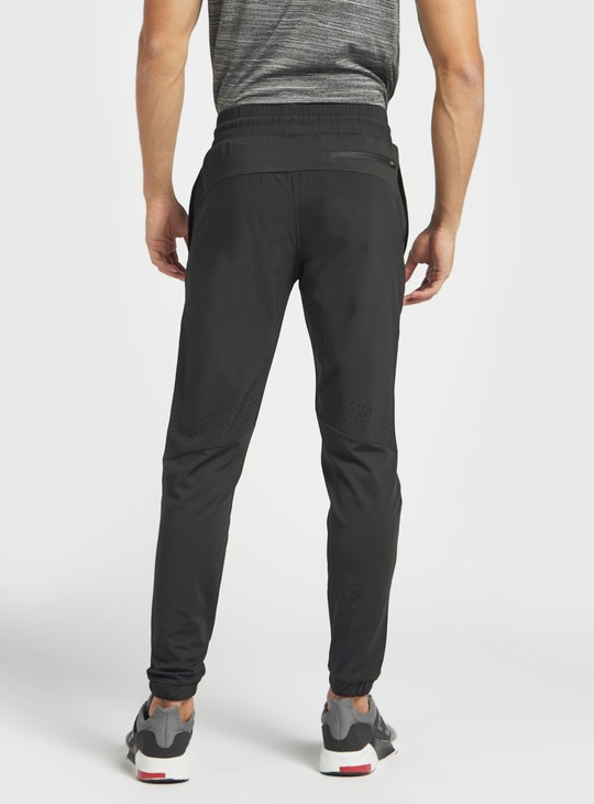 Solid Slim Fit Joggers with Drawstring Closure