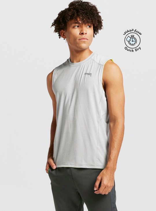 Sleeveless Crew Neck Tank T-shirt