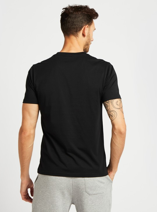 Embroidered Detail T-shirt with Crew Neck and Short Sleeves