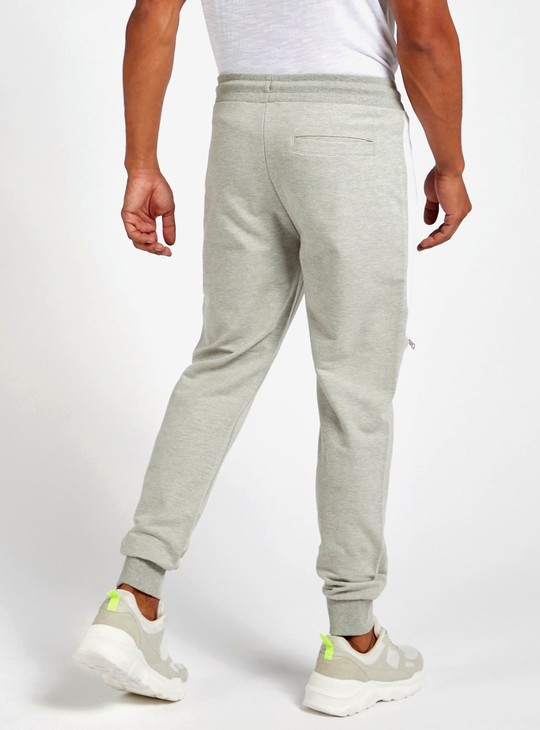 Full-Length Solid Joggers with Zip Detail and Side Panel