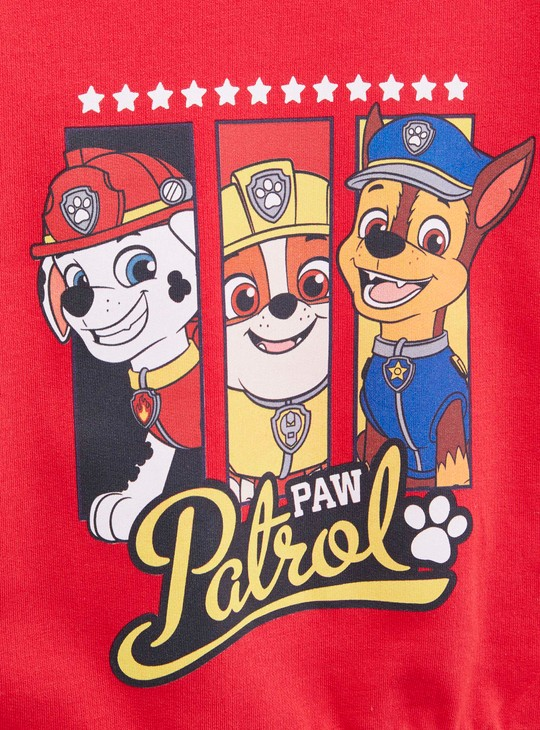 Paw Patrol Printed Sweatshirt with Round Neck and Long Sleeves