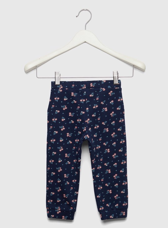Full Length All-Over Print Joggers with Elasticised Waistband