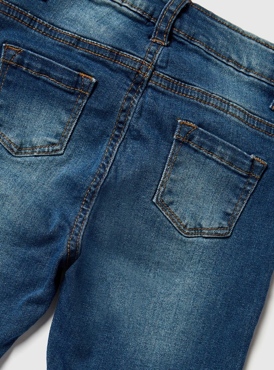Comfort Fit Full Length Jeans with 5-Pockets