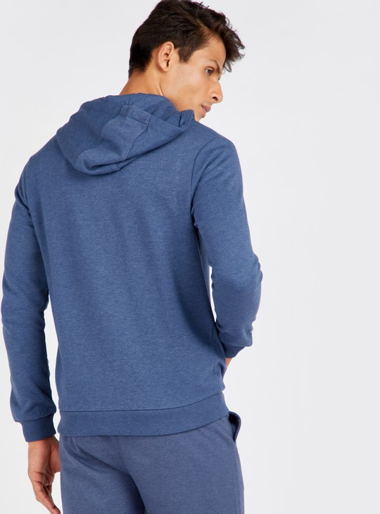 Solid Anti-Pilling Jacket with Hood and Long Sleeves