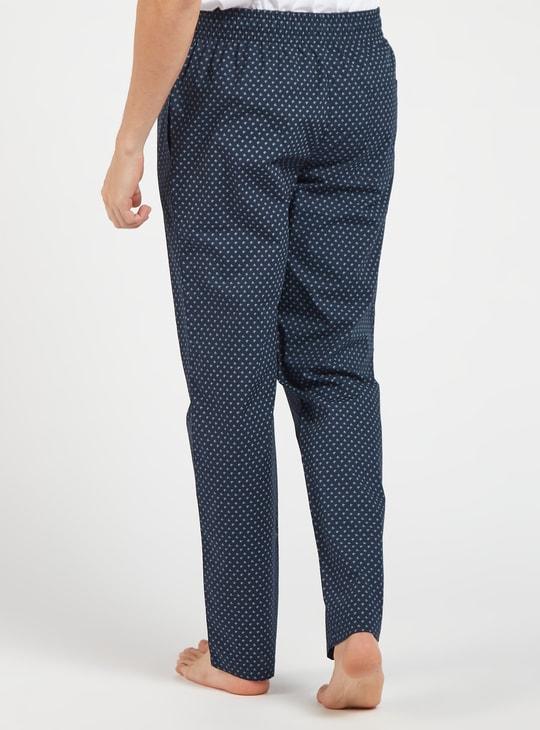 Ditsy Print Full Length Pyjamas with Elasticated Waistband