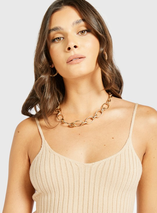 Ribbed Camisole with Scoop Neck