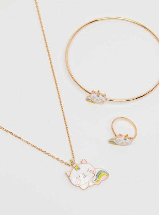 Unicorn Applique 3-Piece Jewellery Set