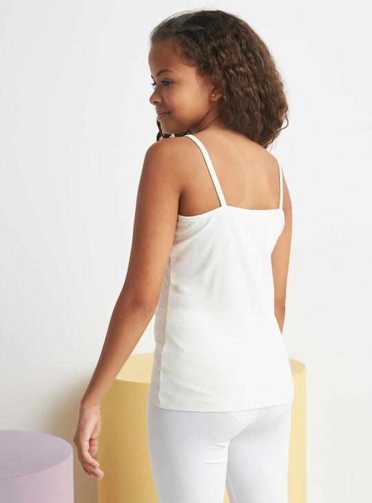 قميص داخلي قصير بحمالات قابلة للتعديل