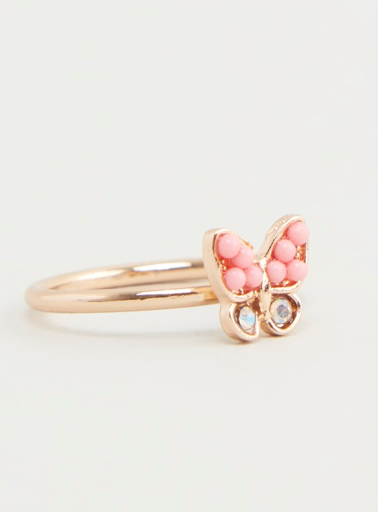 Set of 4 - Studded Rings