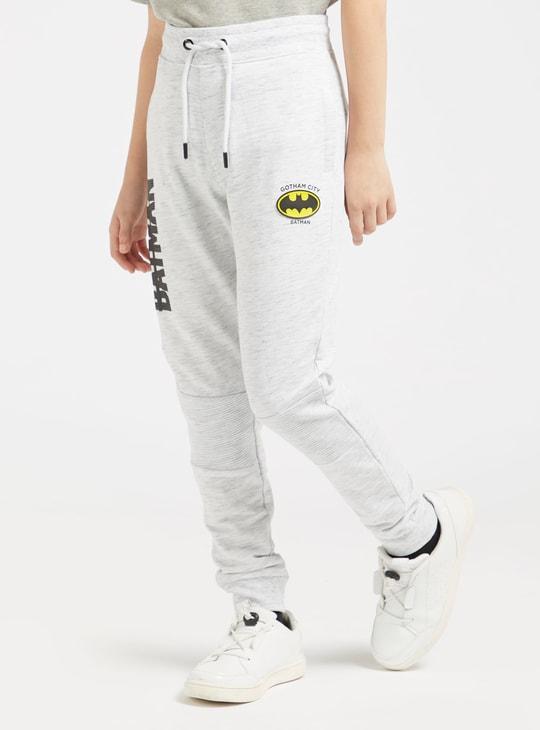 Batman Print Jog Pants with Pockets and Drawstring