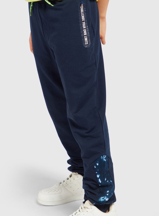 Full Length Jog Pants with Zippered Pocket Detail
