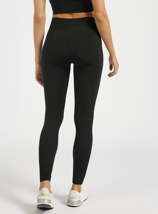 Solid Slim Fit High-Rise Leggings
