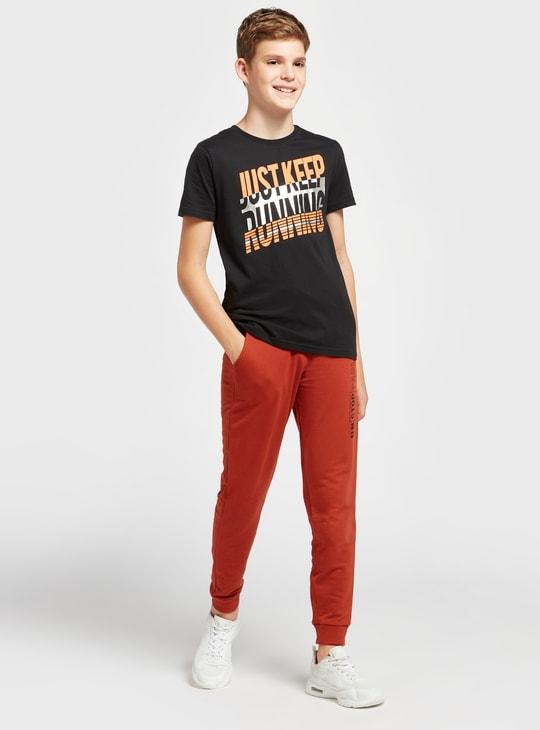 Printed Jog Pants with Pockets and Drawstring