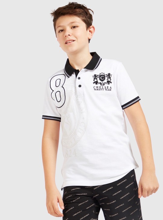 Chelsea Print Polo T-shirt with Short Sleeves