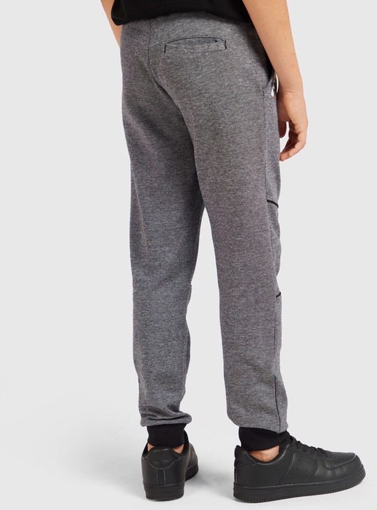 Textured Joggers with Drawstring and Pockets