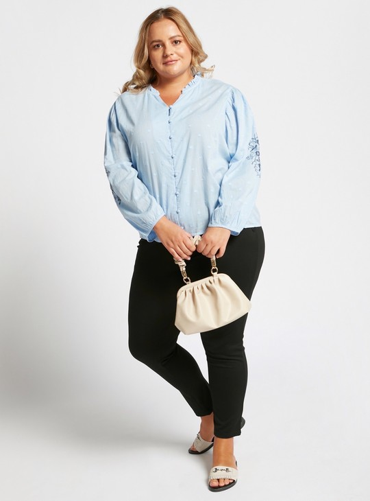 Skinny Fit Solid Ankle Length Ponte Pants