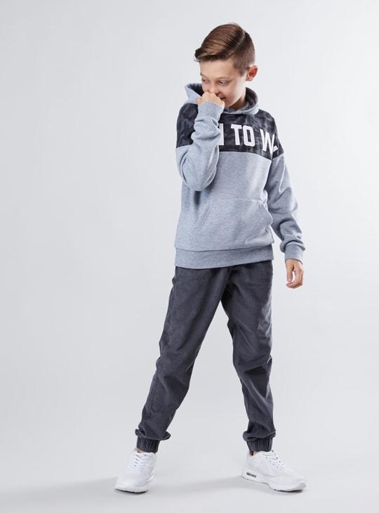 Corduroy Jog Pants with Pocket Detail and Drawstring