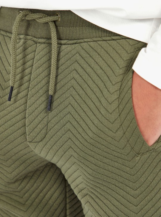 Quilted Long Sleeves Hoodie and Full Length Jogger Set