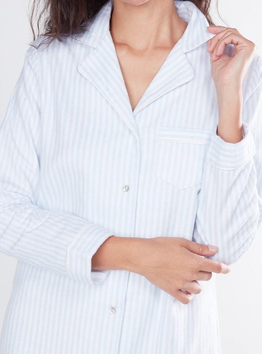 طقم قمصان نوم 3 قطع بأكمام طويلة وطبعات - تشكيلة كوزي