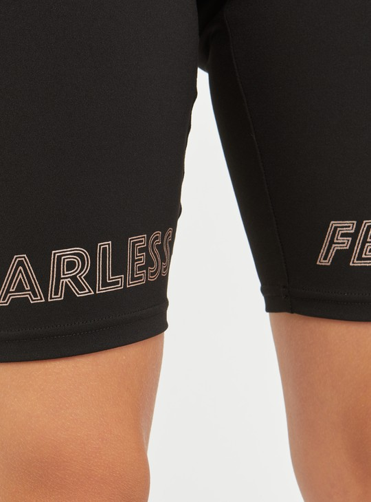Printed Knee-Length Shorts with Elasticised Waistband
