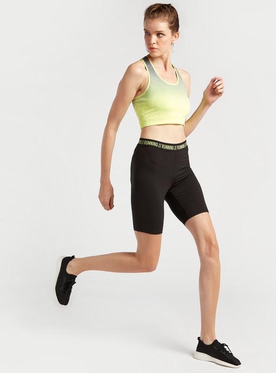 صدرية رياضية متدرجة اللون دون خياطة بدعم متوسط وظهر ريسر