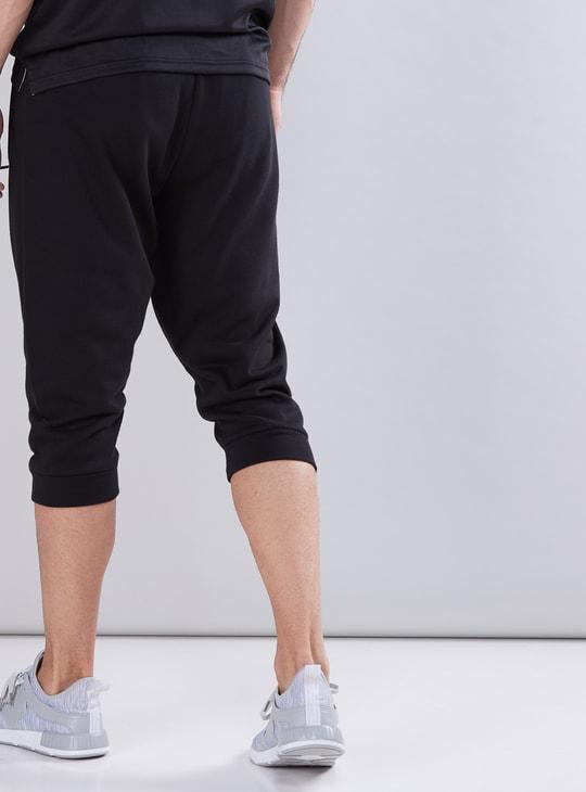 Capri Length Jog Pants with Drawstring