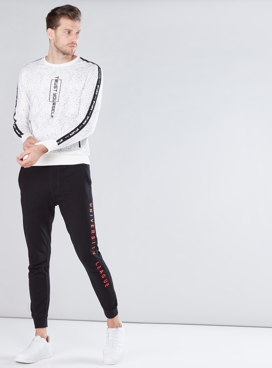 Printed Jog Pants in Slim Fit with Elasticised Waistband