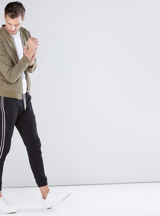 Tape and Pocket Detail Jog Pants with Drawstring
