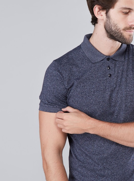 Grindle Printed T-Shirt with Polo Neck and Short Sleeves