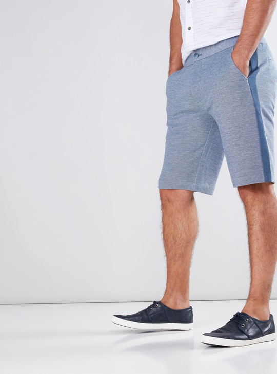 Side Tape Detail Shorts with Pockets
