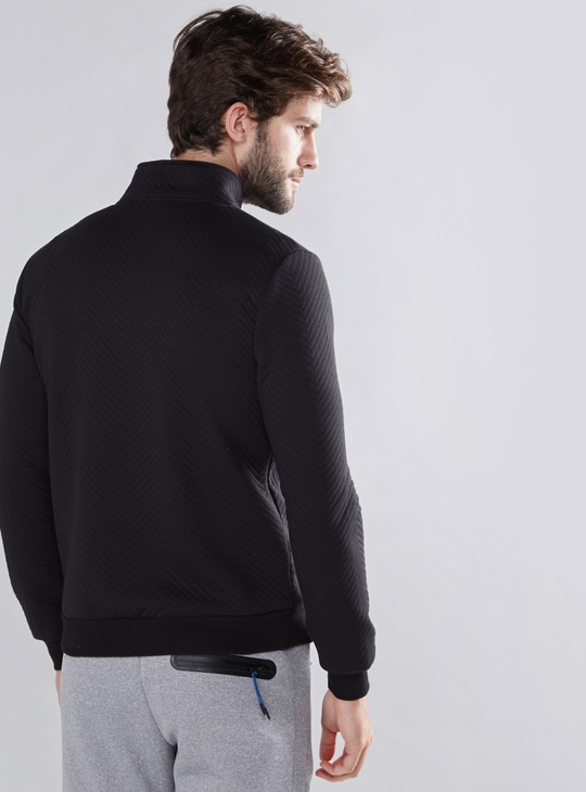 Quilted Jacket with Long Sleeves and Zip Closure