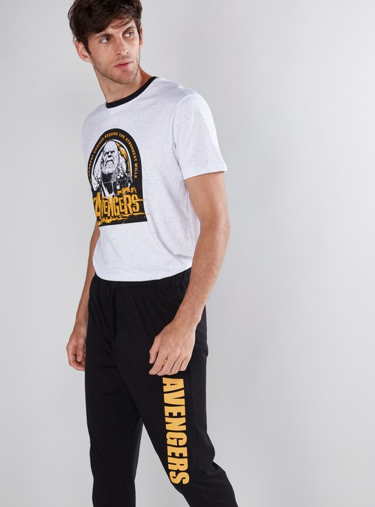 Avengers Printed T-Shirt and Pyjama Set