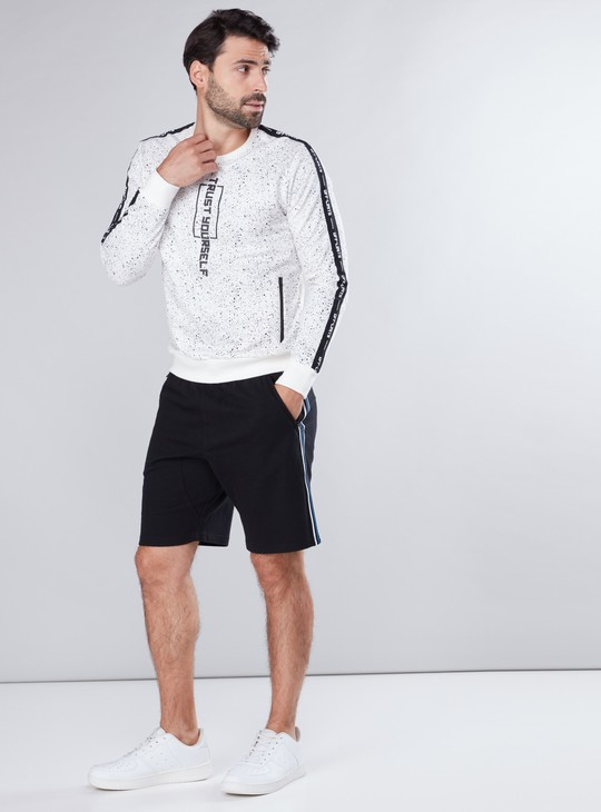 Pocket Detail Knitted Shorts with Side Tape Detail