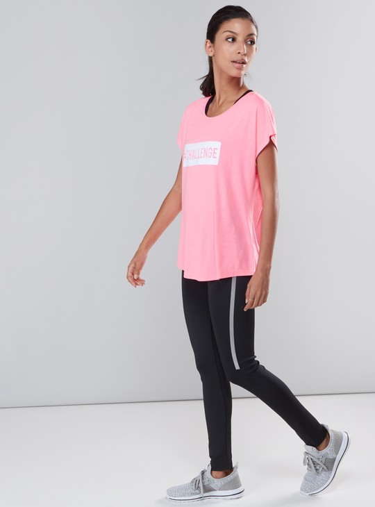 Full Length Scuba Leggings with Elasticised Waistband