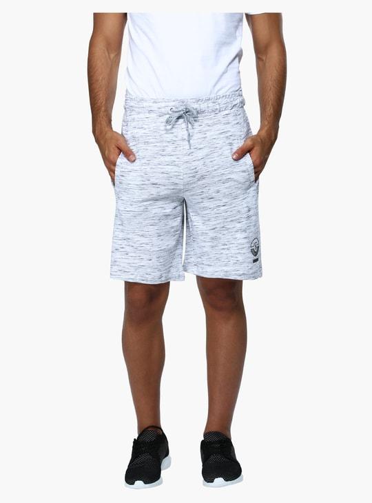 Melange Printed Shorts with Elasticised Waistband