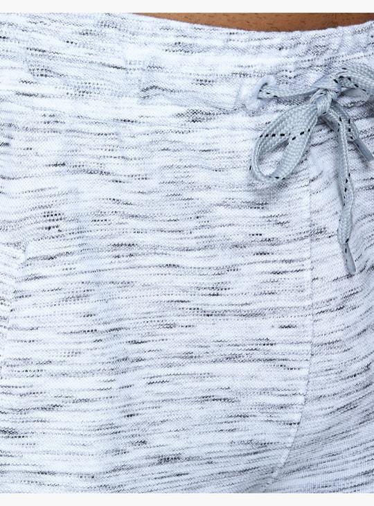شورتات منقوشة بتصميم ميلانج مع حزام وسط مطّاطي