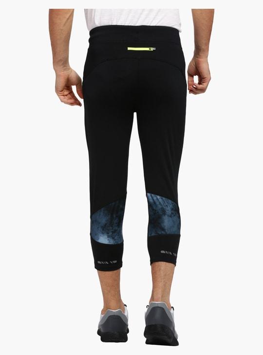 Printed 3/4 Length Jog Pants with Elasticised Waistband