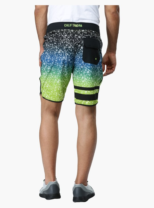 Printed Surfer Shorts in Slim Fit